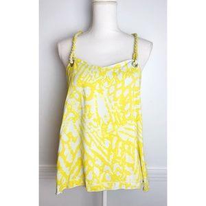 Rachel Roy • Yellow T-Back Rope Tank Top